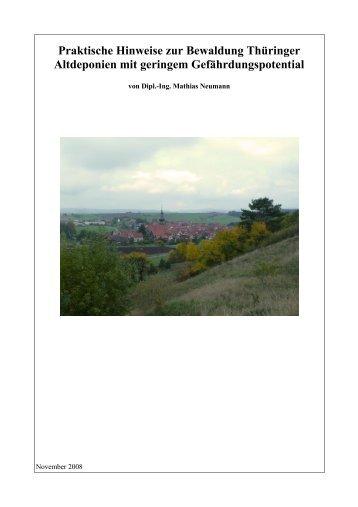 Praktische Hinweise zur Bewaldung Thüringer Altdeponien mit ...