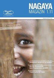 Nagaya Magazin 1/2011 - Menschen für Menschen