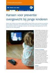 Kansen voor preventie overgewicht bij jonge kinderen - TNO