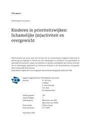 Kinderen in prioriteitswijken: lichamelijke (in)activiteit en ... - TNO
