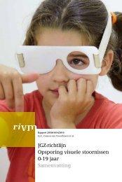 JGZ-richtlijn Opsporing visuele stoornissen de Samenvatting - NCj