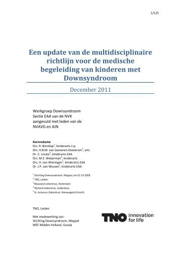Richtlijn Downsyndroom - TNO