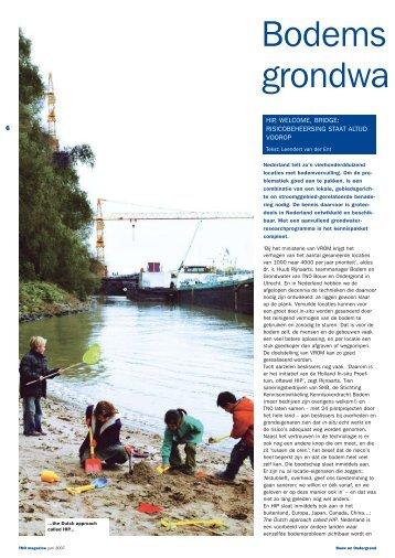 Bodemsanering en grondwaterbescherming - TNO