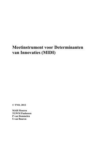 Meetinstrument voor Determinanten van Innovaties (MIDI) - TNO