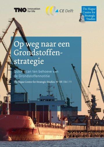 Op weg naar een Grondstoffenstrategie - TNO