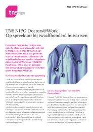 TNS NIPO Doctors@Work Op spreekuur bij twaalfhonderd huisartsen