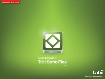 Tobii Sono Flex manual för iPad