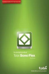 Tobii Sono Flex manual för iPhone
