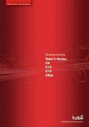 Bruksanvisning Tobii C-Series C8 C12 C15 CEye