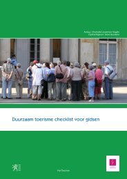 Duurzaam toerisme checklist voor gidsen - Toerisme Vlaanderen