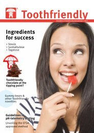Confectionery edition 1/2013 (PDF) - Toothfriendly International