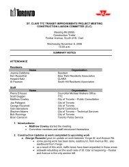 Meeting Minutes - City of Toronto