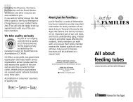 All about feeding tubes - City of Toronto
