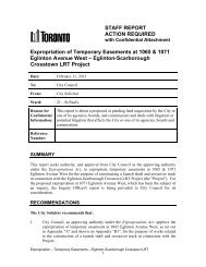 Expropriation of Temporary Easements at 1065 ... - City of Toronto