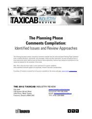 The Planning Phase Comments Compilation - City of Toronto