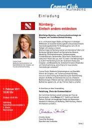 Nürnberg - Einfach anders entdecken - Commclubs Bayern