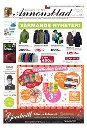 NORRBOTTENS ANNONSBLADvecka 40, torsdag 4 oktober 2012 ...