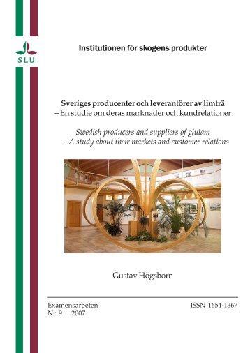 En studie om deras marknader och kund - Epsilon - SLU