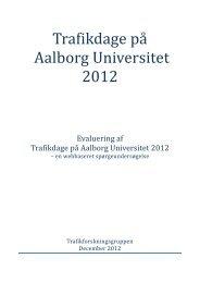 Evalueringsrapport 2012 - Trafikdage.dk