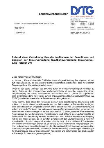 Landesverband Berlin - Dstg-Berlin