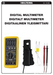 Digital multimeter Digitalt multimeter Digitaalinen yleismittari - Biltema