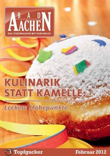 Die BAD Aachen-Tipps zu den köstlichen Höhepunkten dieses ...
