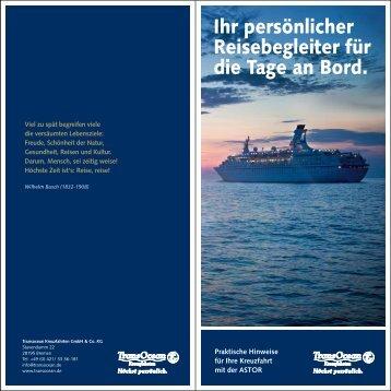 Ihr persönlicher Reisebegleiter als PDF - Transocean