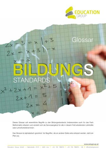 Glossar Bildungsstandards (pdf) - Schule.at