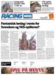 Fantastisk lørdag i vente for Svendsen og V65-spillerne?