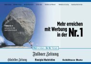 Mehr erreichen mit Werbung in der Nr.1 - Fuldaer Zeitung