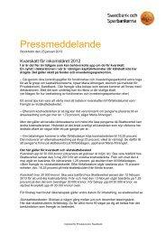Kvarskatt för inkomståret 2012 - Swedbank
