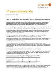 Pressmeddelande - Swedbank