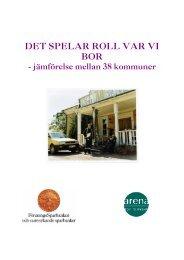 DET SPELAR ROLL VAR VI BOR - Swedbank