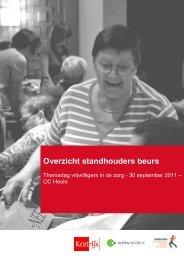 Overzicht standhouders beurs - Stad Kortrijk
