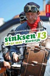 programmabrochure van Sinksen - Stad Kortrijk