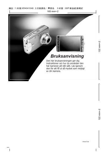 Stillbildskamera - Manualer