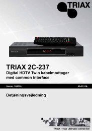 TRIAX 2C-237 Digital HDTV Twin kabelmodtager med common ...
