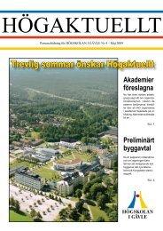 Högaktuellt 2009-4 - Högskolan i Gävle