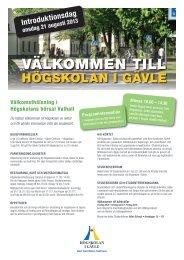 Välkommen till - Högskolan i Gävle