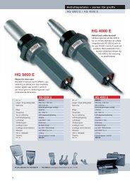Produktblad HG 5000 E