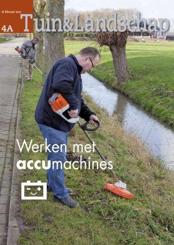 T&L Thema: werken met accumachines 4a/2012 - Tuin & Landschap
