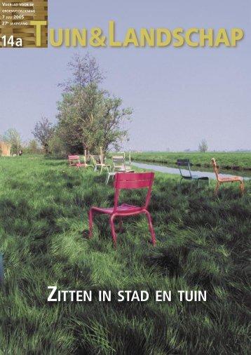 Zitten in stad en tuin 14a/2005 - Tuin & Landschap