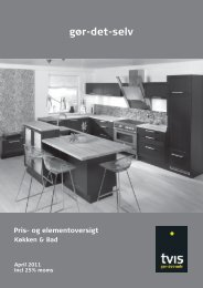 Tvis GDS prisliste - Tvis Køkkener