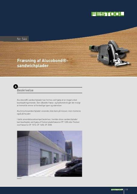 Fræsning af Alucobond®- sandwichplader - Festool