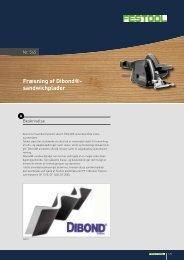 Fræsning af Dibond®- sandwichplader - Festool
