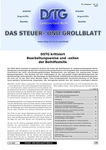 DSTG kritisiert Bearbeitungsweise und -zeiten der ... - Dstg-Berlin