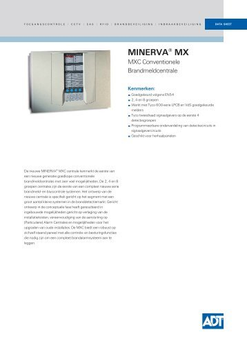 PSF119AN.MINERVA® MX MXC Conventionele Brandmeldcentrale ...