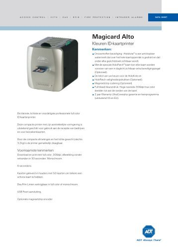 PSAC395AN_Magicard Alto Kleuren ID-kaartprinter ... - Tyco EMEA
