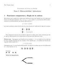 Tema 5: Diferenciabilidad: Aplicaciones 1 Funciones compuestas y ...