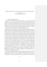 Orígenes de las lenguas romances peninsulares - Universidad ...